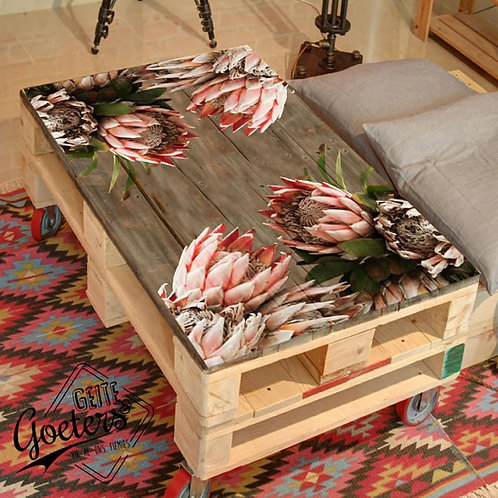 Protea Printed Pallet Coffee Table