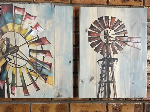 Windmill set of 2