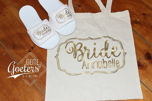 Slippers & Custom cotton Tote Bag
