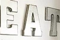 Galvanised letter/symbol