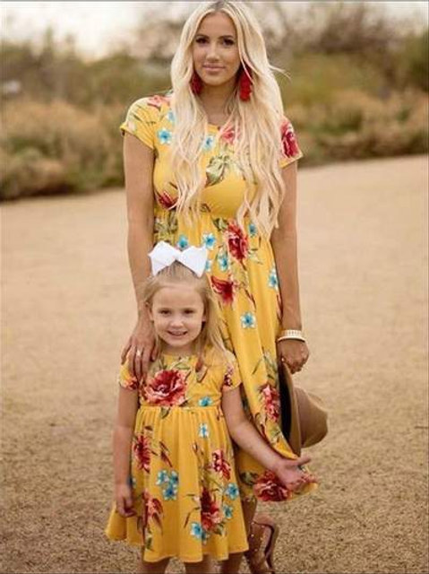 Mommy and me: One tone floral