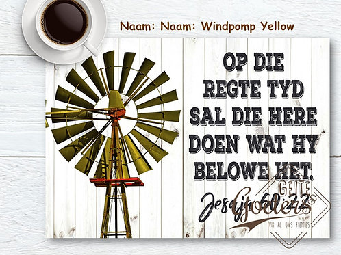 Windmill and words Set of 12 Placemats - different options