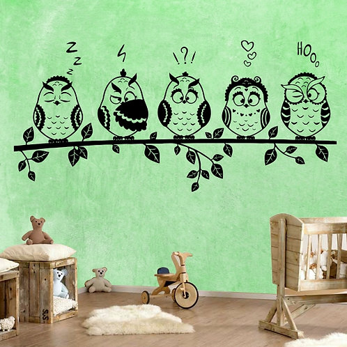 Whimsical owls