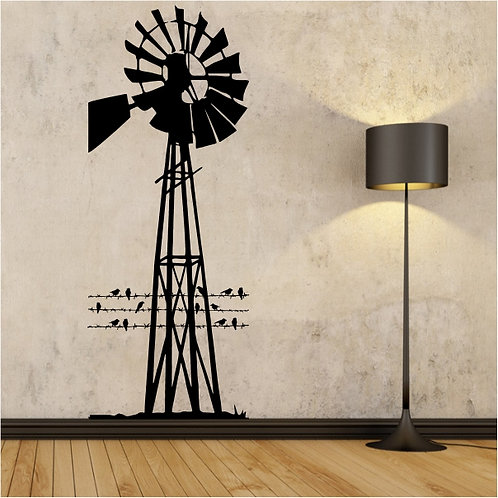 Windmill & Barbed wire - Large