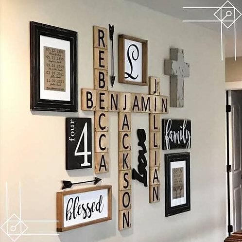 BF Scrabble letters each 15cm
