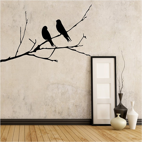 Birds on dry Branch - Medium