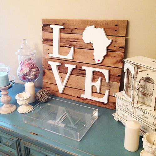 40cm x 40cm Africa Love