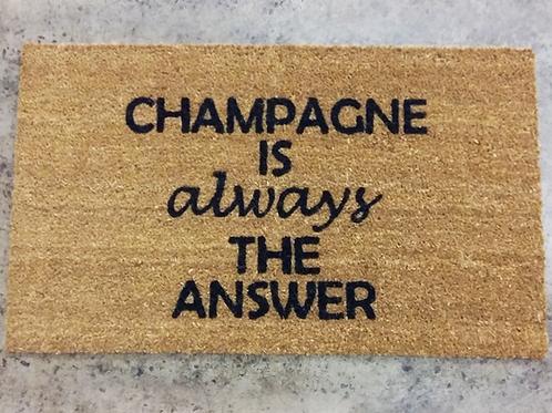 Doormat: Champagne