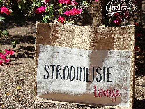 Custom cotton beach handbag