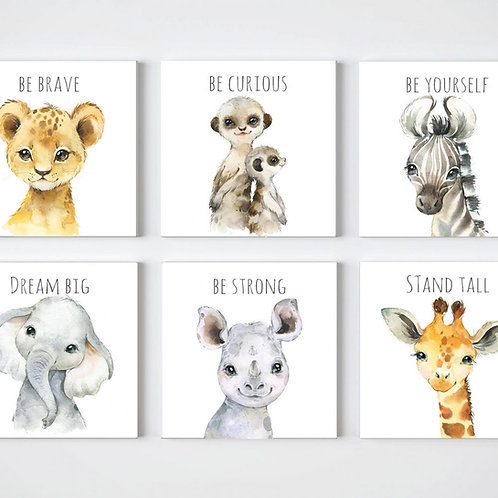 2020 Animal with words Set of 6