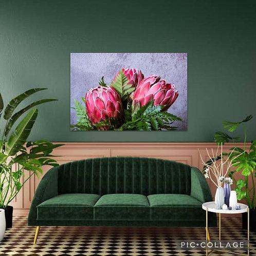 2021 Steel/Wood Flower Protea Pink