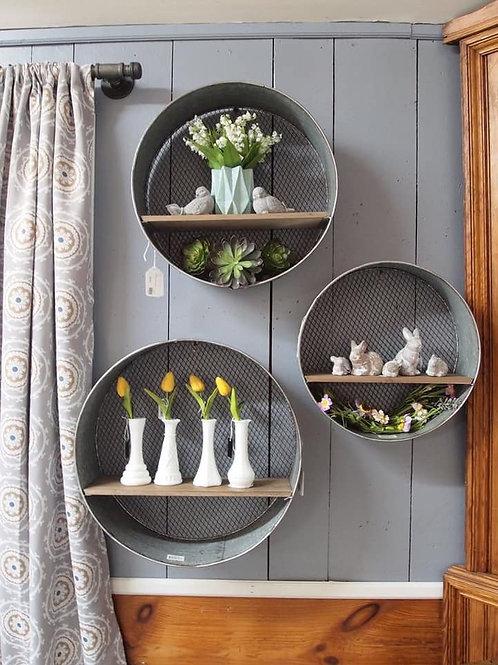 Galvanised Shelves