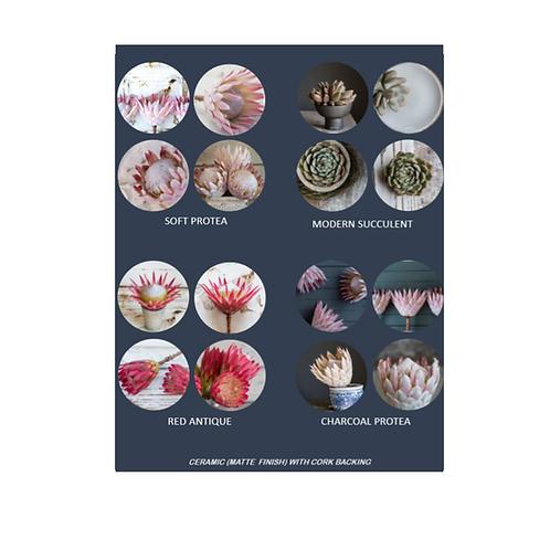 Ceramic Coasters - set of 4