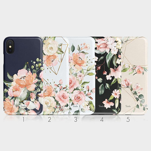 Phone Case Cover: Tirita Hard Phone Case Floral English Roses Vintage Peony Flow
