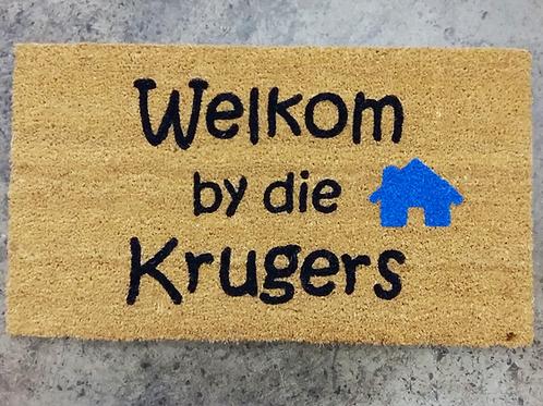 Door mat Welcome to/ Welkom by