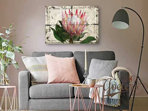 Buy one get one free: Rustic Tile Protea Light Pink