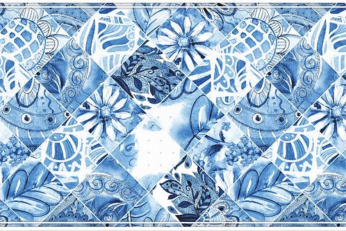 Spanish Tiles - Blue and White Table Runner