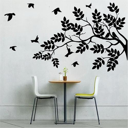 Tree Branch with Birds - Medium