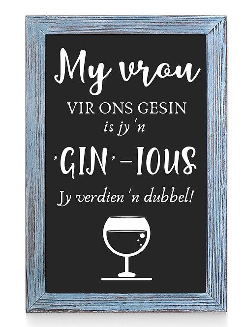 Moedersdag: My vrou Gin-ious