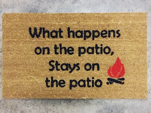 Doormat: What happens on the patio
