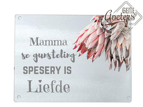 A4 Kitchen Chopping Board - with wording