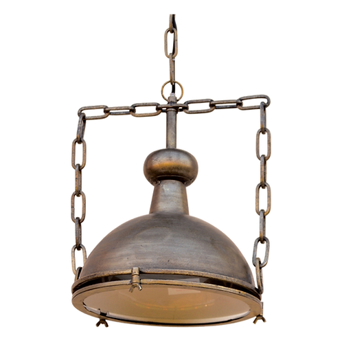 LE054 Lamp Metal Hang w/glass 30 x 37cm(excl. chain)