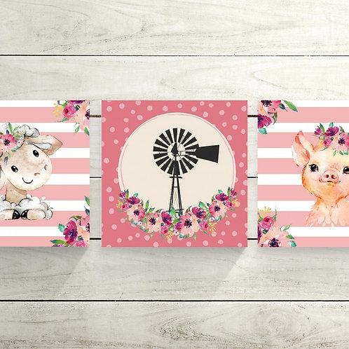 2020 Pink Windmill wood print