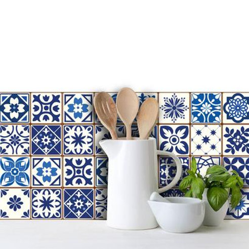 Set of Vinyl Tiles - Spanish Blue