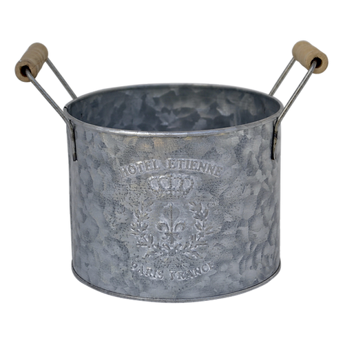 T059L Bucket Metal Round Large 18x14cm excl handle