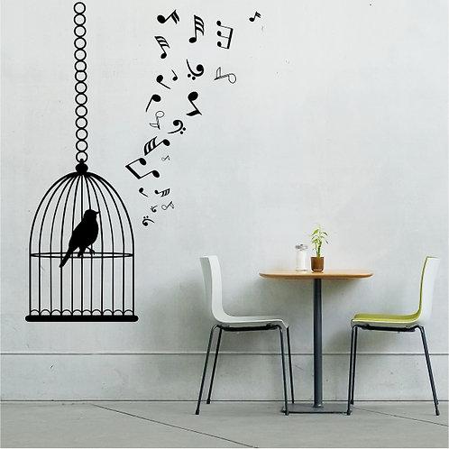 Birdcage & Musical Notes