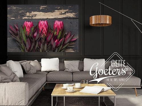 2021 Wood Protea Trio Bright Pink