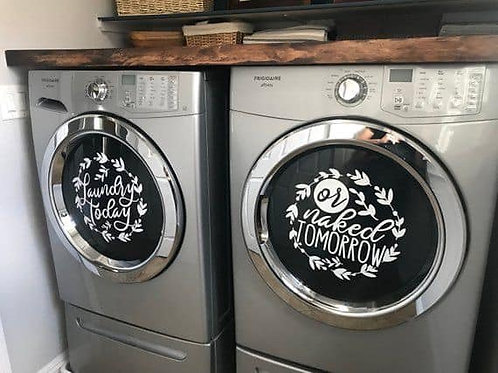 Laundry dual sticker