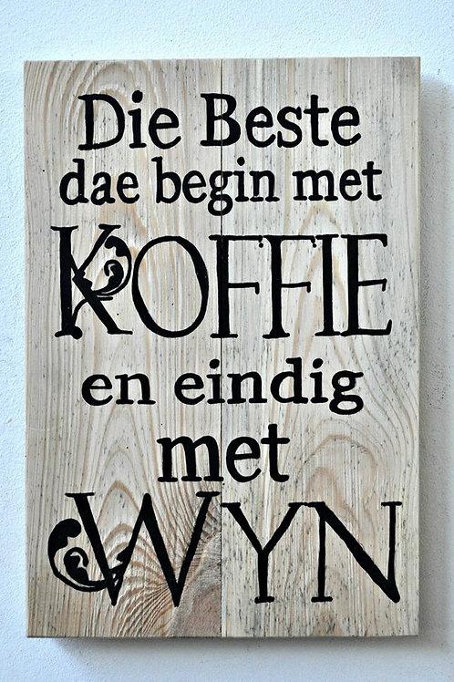 Wyn & Koffie bord