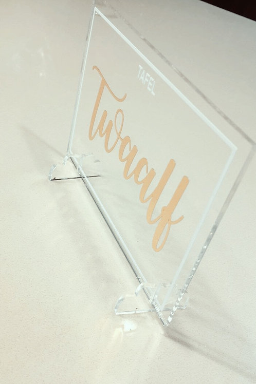 A6 perspex table numbers