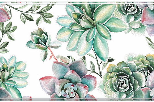 Succulents - Watercolour Table Runner