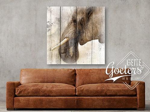 Elephant on wood