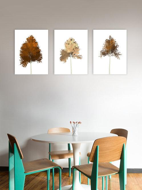 Set of 3 Trees - Brown