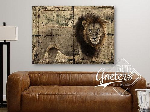 Rustic Tile Lion
