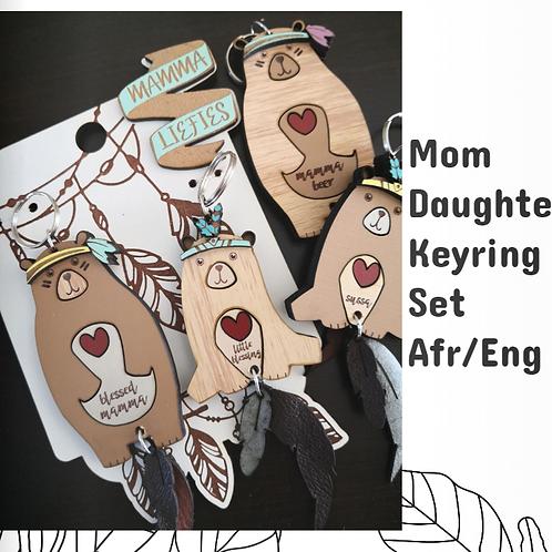 Mom Daughter Keyring Set