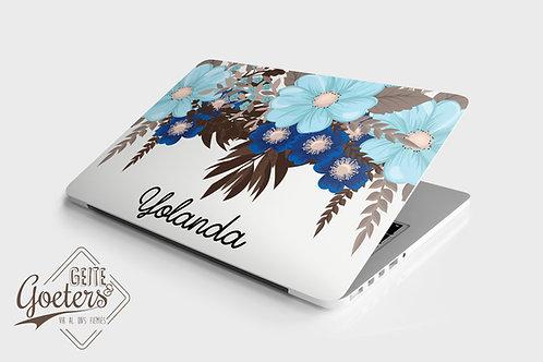 Laptop Skins: Blue Floral