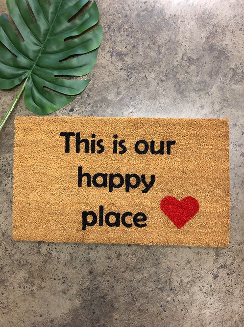 Doormat: Happy Place