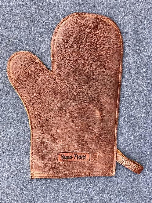 Leather oondhandskoen/braaihandskoen