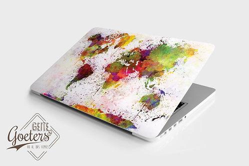 Laptop Skins: World map colours