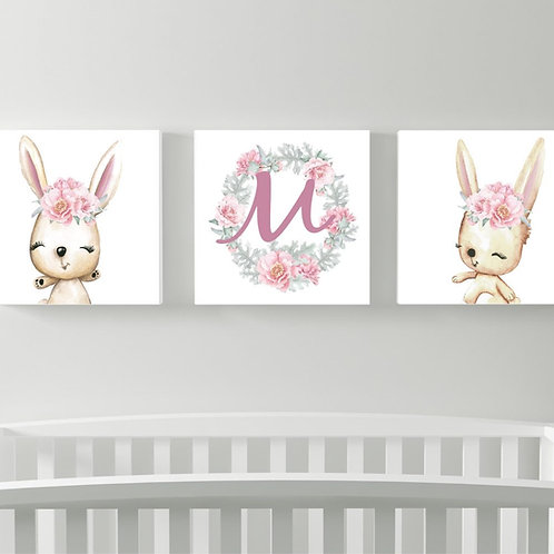 2020 Bunny M wood print