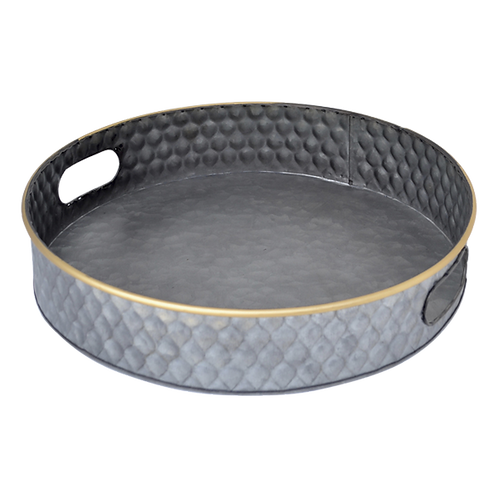 T058L Tray Metal Round Large 41 x 8cm