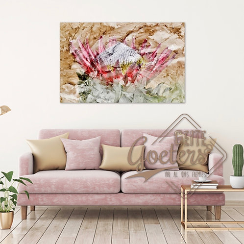 2020 Rustic Protea Abstract Pastel