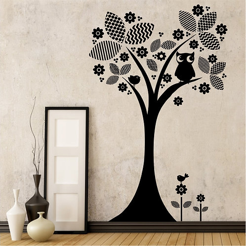 Whimsical Tree & Owl