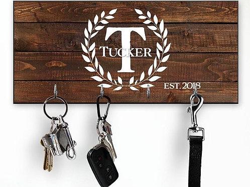 Wood Initial Key