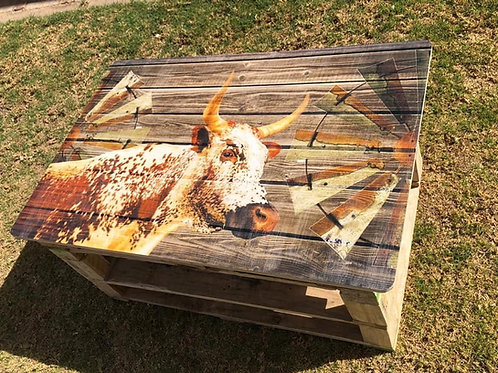 Nguni Printed Pallet Coffee Table