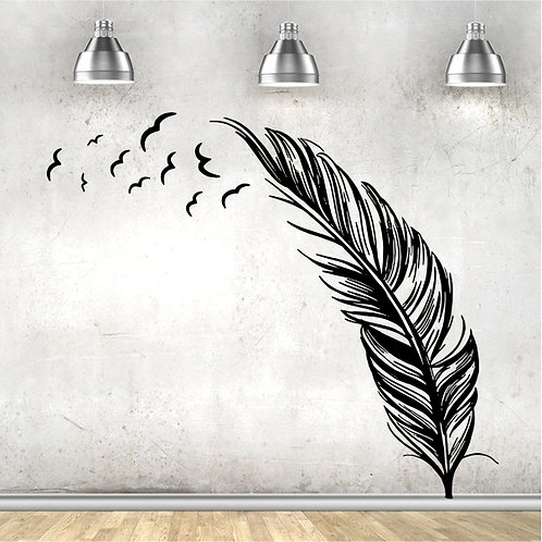 Feather with Birds